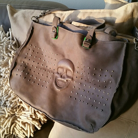 buying cheap details for online here AUTHENTIC Gianni Notaro Italian Leather Skull Bag